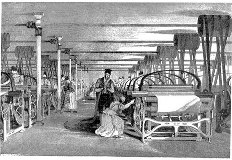 styles of the industrial revolution file powerloom weaving in 1835 jpg wikimedia commons