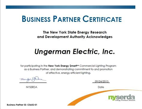 certificate of partnership template energy efficient lighting design ungerman