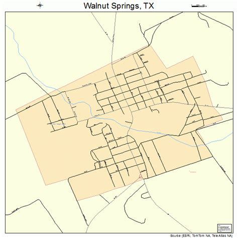 map of springs texas walnut springs texas map 4876348