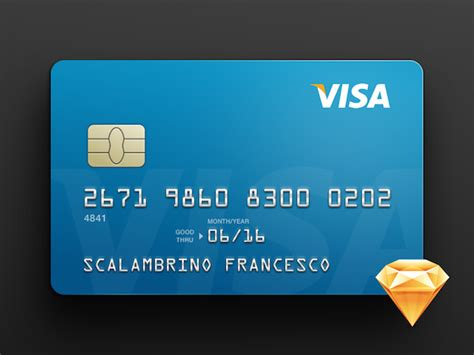 free credit card template sketch psdblast