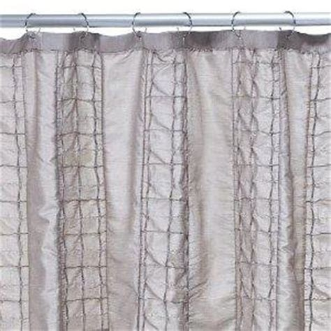 how to make pintuck curtains com home taupe pintuck squares shower curtain