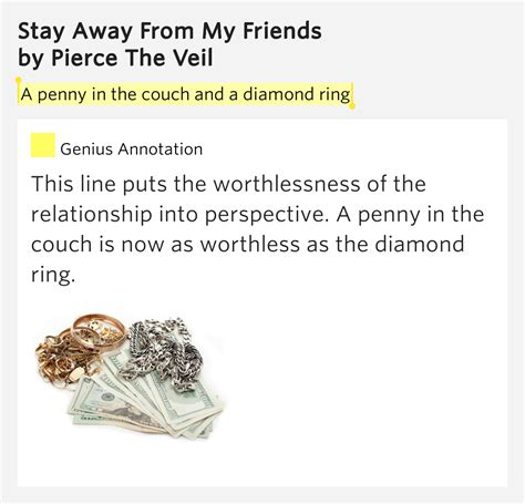 my couch lyrics a penny in the couch and a diamond ring stay away from