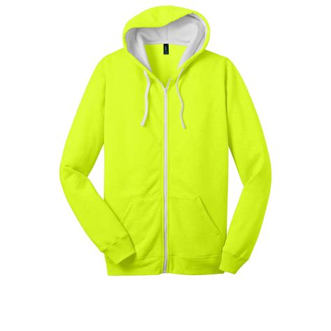 Hoodie Neon District Dt800 Mens Concert Fleece Zip Hoodie