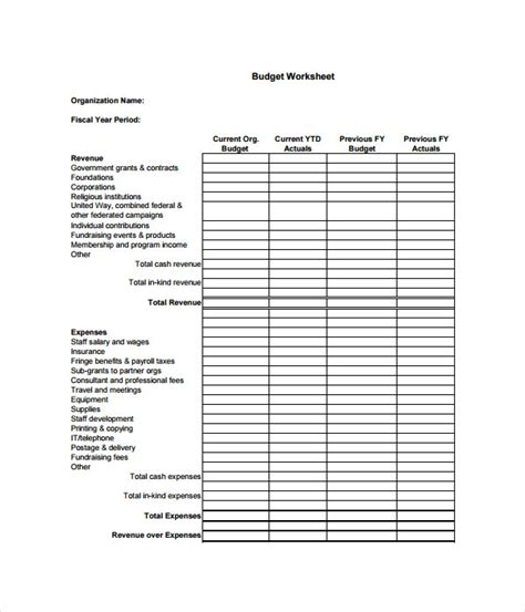 21 Budget Templates Free Word Pdf Documents Download Nonprofit Fundraising Budget Template