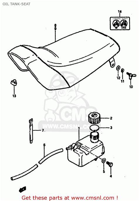 1985 Suzuki Lt50 Parts Suzuki Lt50 1985 F Tank Seat Schematic Partsfiche