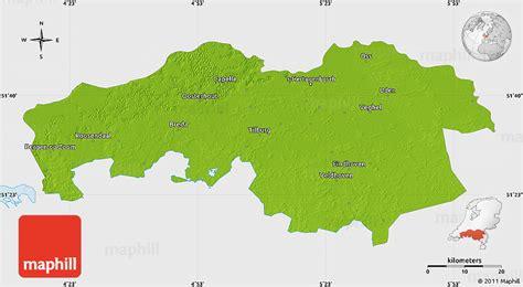 brabant netherlands map physical map of noord brabant single color outside