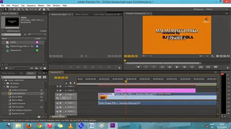 tutorial adobe premiere pro cc 2017 bahasa indonesia tutorial video editing adobe premiere pro cc bahasa