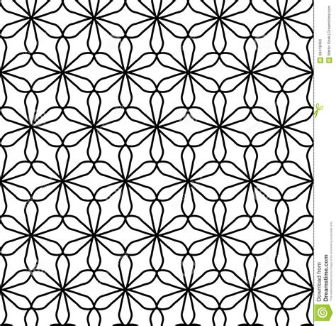 libro print pattern geometric vector modern seamless geometry pattern flower of life black and white abstract stock vector