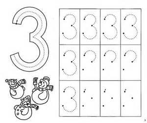 number 3 practice worksheets 3 171 funnycrafts