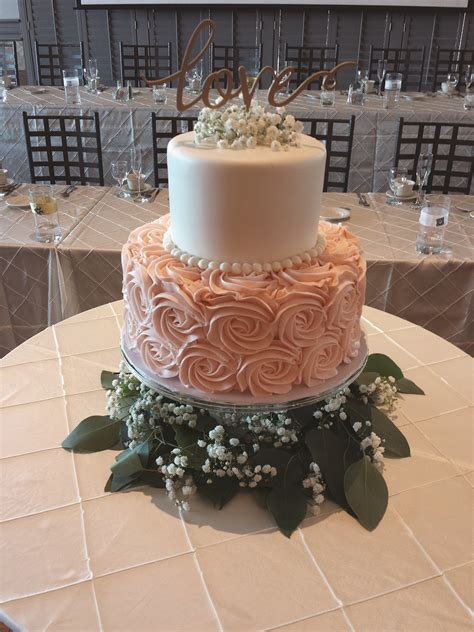 Jessa cake   two tier buttercream wedding cake with smooth
