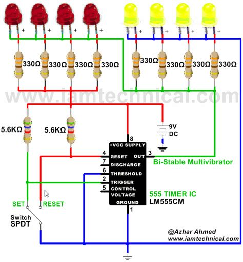 what does a 555 integrated circuit do 555 timer integrated circuit connected as a bistable timer mode iamtechnical