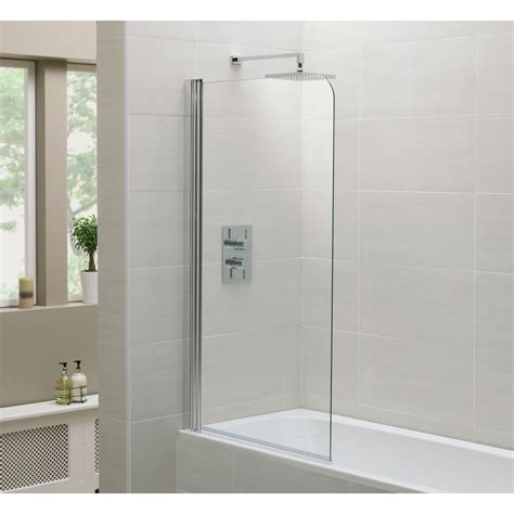 Shower Bathroom Moods Single Shower Bath Screen 800mm X 1400mm Rap9234