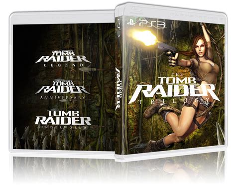 tomb raider trilogy playstation  box art cover  moonkea