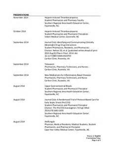 Curriculum Vitae Pharmacy by Stacey English Cv