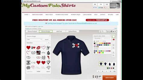 shirt design maker online custom polo shirts design your own custom polo shirts