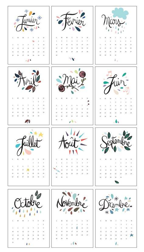 printable calendar pinterest les 10 meilleures id 233 es de la cat 233 gorie calendrier 2017