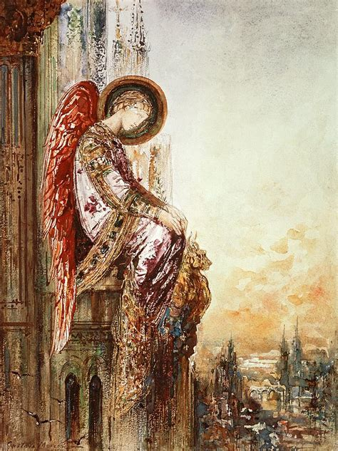 engel painting traveller by gustave moreau