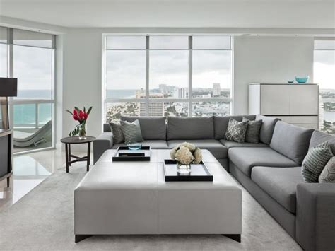 Hgtv Living Room Gray Contemporary Gray And White Living Room With A View Hgtv