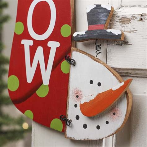 snowman home decor quot snow quot snowman stocking wall decor home decor