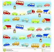 Background With Cartoon Cars Stock Photo  Image 32763960