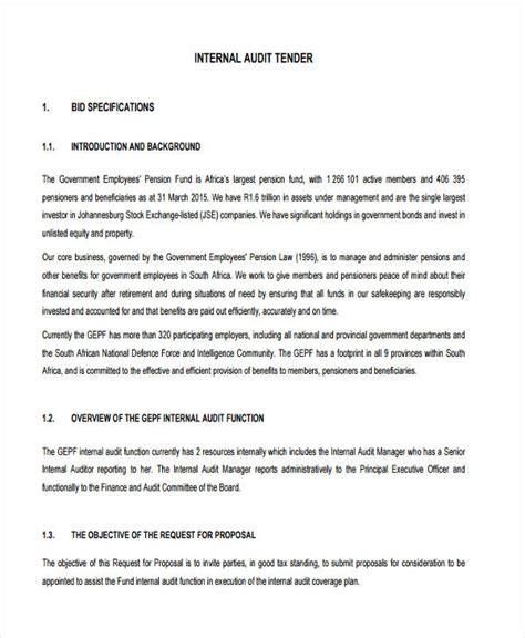 proposal format for internal audit services 30 request for proposal exles