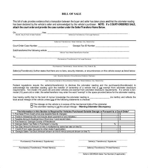 Bill Of Sale Template Word To Use And How To Use The Document Dealership Bill Of Sale Template
