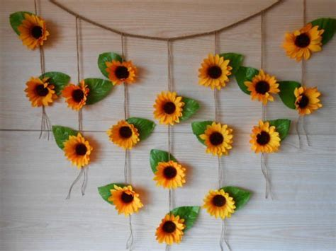 sunflower wedding decor sunflower garland by