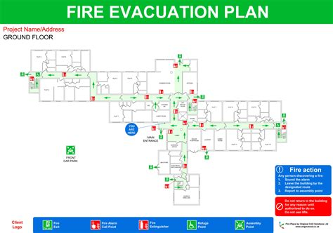 fire evacuation floor plan fire point cad symbol