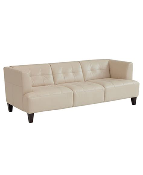 kaleb tufted leather sofa collection macy s tufted leather sofa infosofa co