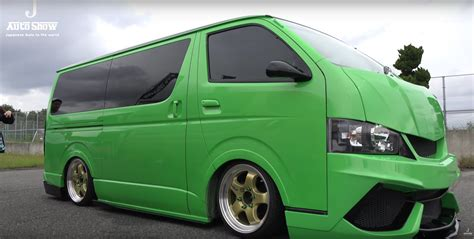 toyota van two toyota hiace vans get lamborghini bumpers and paint