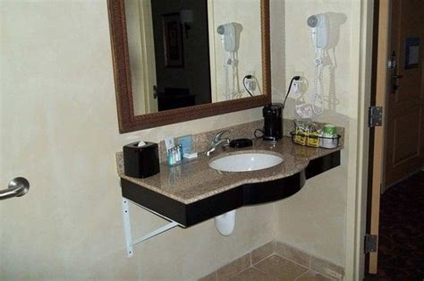 ada bathroom cabinets ada bathroom vanity picture of hton inn suites