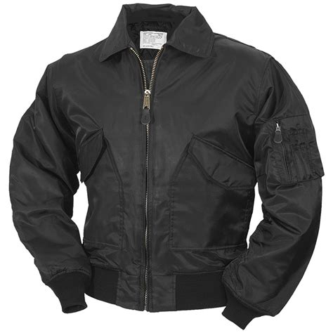 Jaket Boomber Navy 5 cwu flight bomber flyer pilot mens jacket us army winter black s 5xl ebay