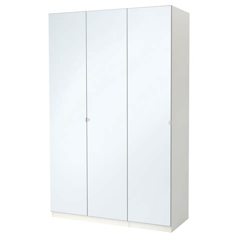 Ikea Wardrobes With Mirror by Pax Wardrobe White Vikedal Mirror Glass 150x60x236 Cm Ikea