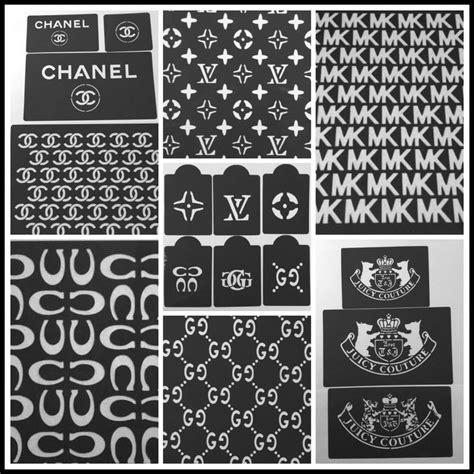 lv pattern stencil lot of 19 cake stencils designers mk louis vuitton chanel