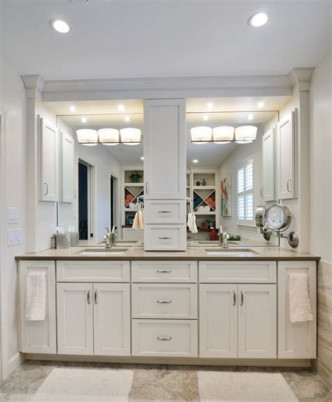 Bathroom Vanities With Storage Towers Bathroom Cabinets With Center Storage Tower Search Bathroom Mirrors Pinterest