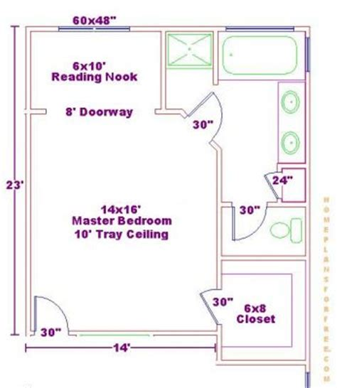 Master Bedroom And Bathroom Floor Plans Click To View Size Image