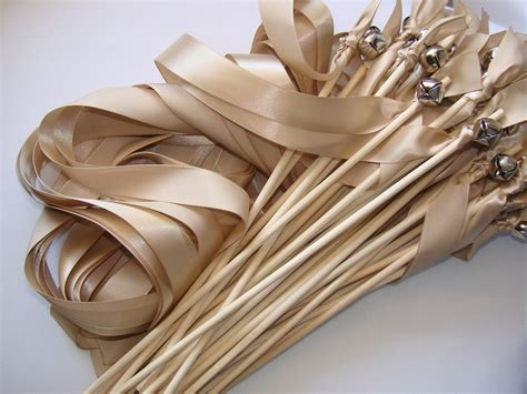 Wedding Bell Wands by 50 Wedding Wands With Bell Ribbon Wands Outdoor Ceremony Send
