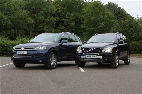 volkswagen volvo volvo xc90 vs vw touareg parkers
