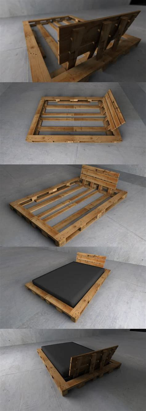 Creative Bed Frames 1000 Ideas About Pallet Bed Frames On Pallet