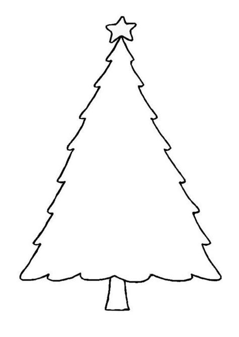 christmas tree glyph printable blank christmas tree outline printable template clip art