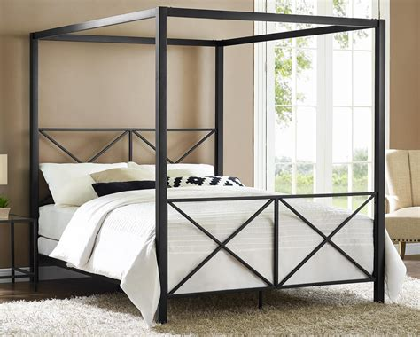 metal canopy bed frame queen dhp furniture rosedale metal canopy queen bed