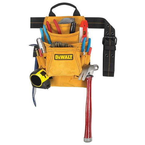 shop dewalt general construction leather tool pouch at