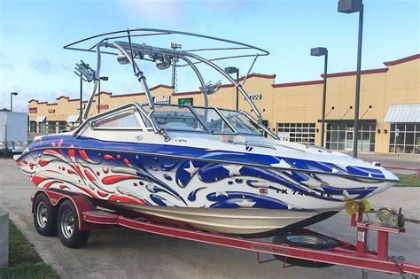 bayliner boats dfw stars and stripes splash boat boat wraps pinterest