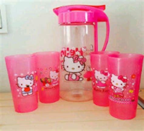 Teko Set Plastik jual teko pitcher ceret water jug gelas mug cup cangkir
