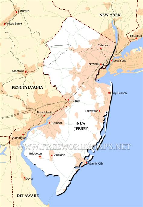 physical map of new jersey new jersey maps