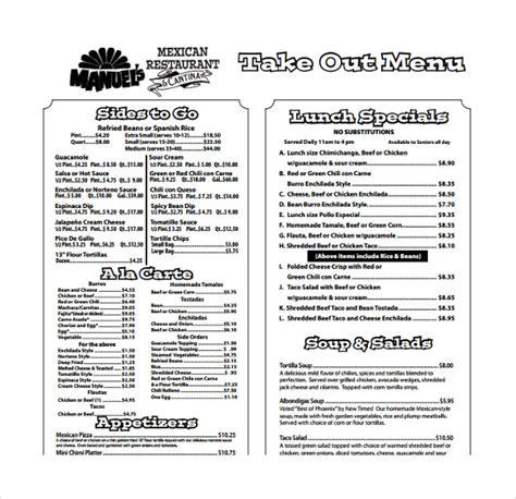 20 Take Out Menu Templates Free Sle Exle Format Download Free Premium Templates Free Printable Menu Templates
