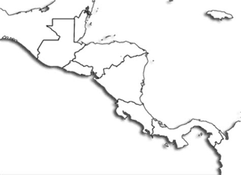 central america outline map free blank map of central america and mexico