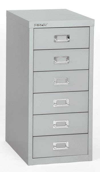 Bisley 6 Drawer Under Desk Multidrawer Cabinet