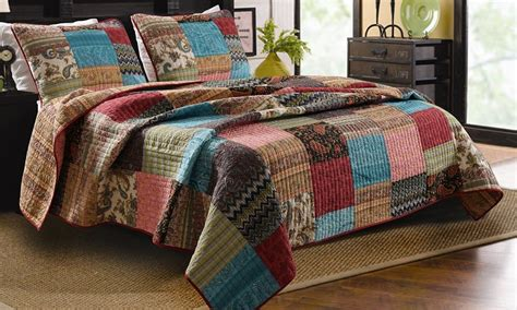 King Quilt Sets 3pc Bohemian Quilt Set King Size Greenland Home Cotton