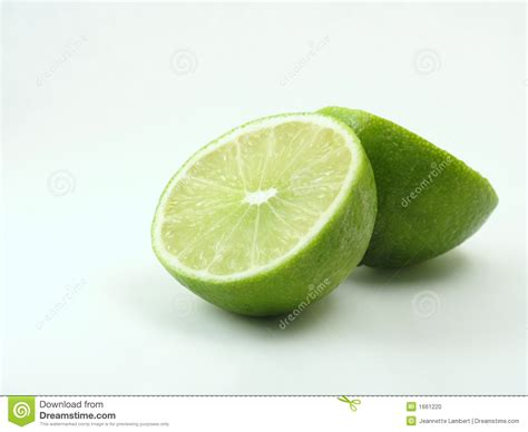 green lime on white cut in half stock photo image 1661220